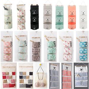 3-Pockets-Wall-Door-Closet-Home-Hanging-Storage-Bag-Linen-Organizer-Useful-Pouch