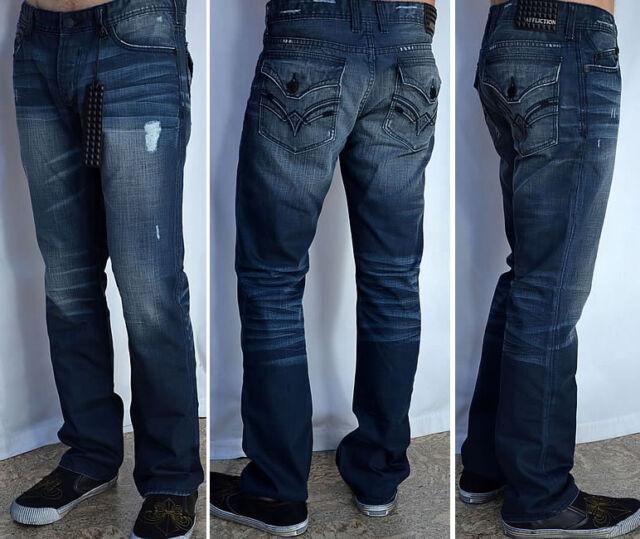 Affliction Men's Denim ACE VINTAGE REPAIR FLAP Jeans Distressed  NEW - 01SS411