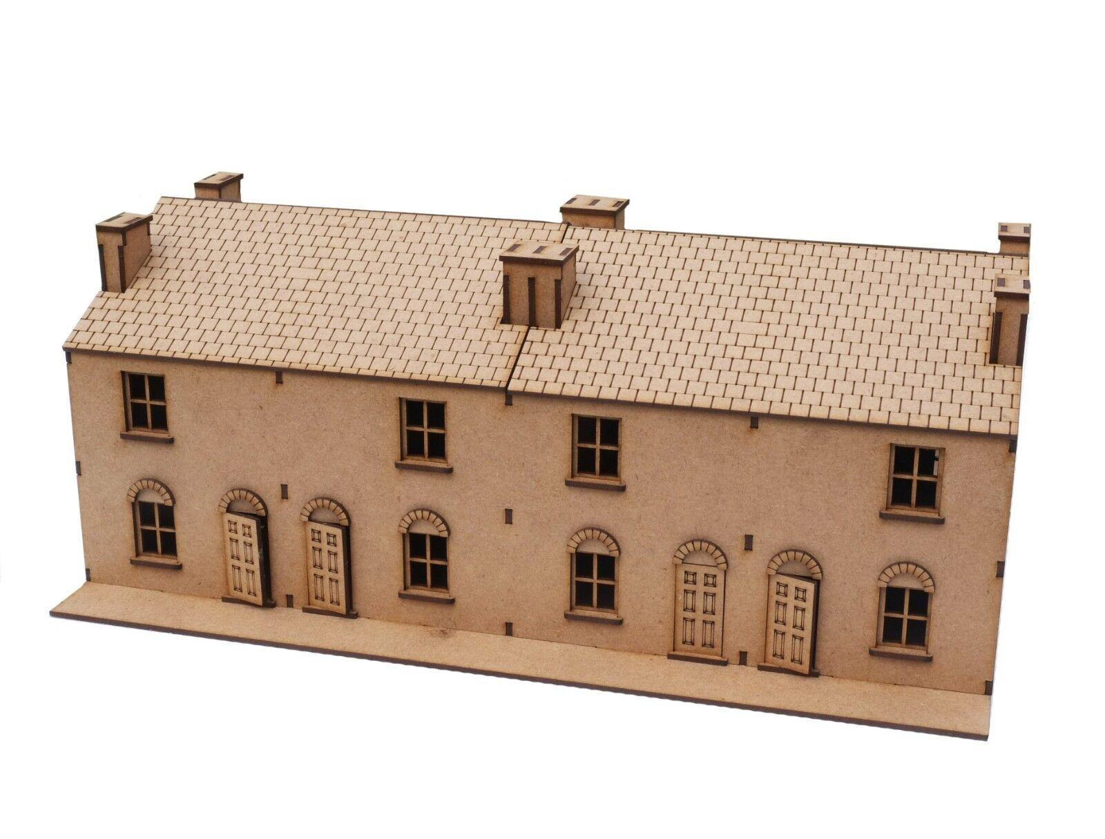 28 mm Terrace House Quad model WWII. laser cut 2 mm MDF