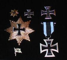 German Prussian Iron Cross Medal Badge Award Pin Battle Set Army Navy Unit War