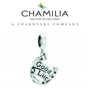 Details about Genuine Chamilia 925 Silver Horse Shoe Good Luck Charm GCSE A  LEVEL DEGREE EXAMS