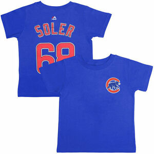 Chicago-Cubs-T-Shirt-Jorge-Soler-48-Majestic-Youth-Player-Name-amp-Number-Blue