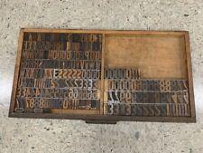 Set Of Wooden Letterpress Font With Drawer 175