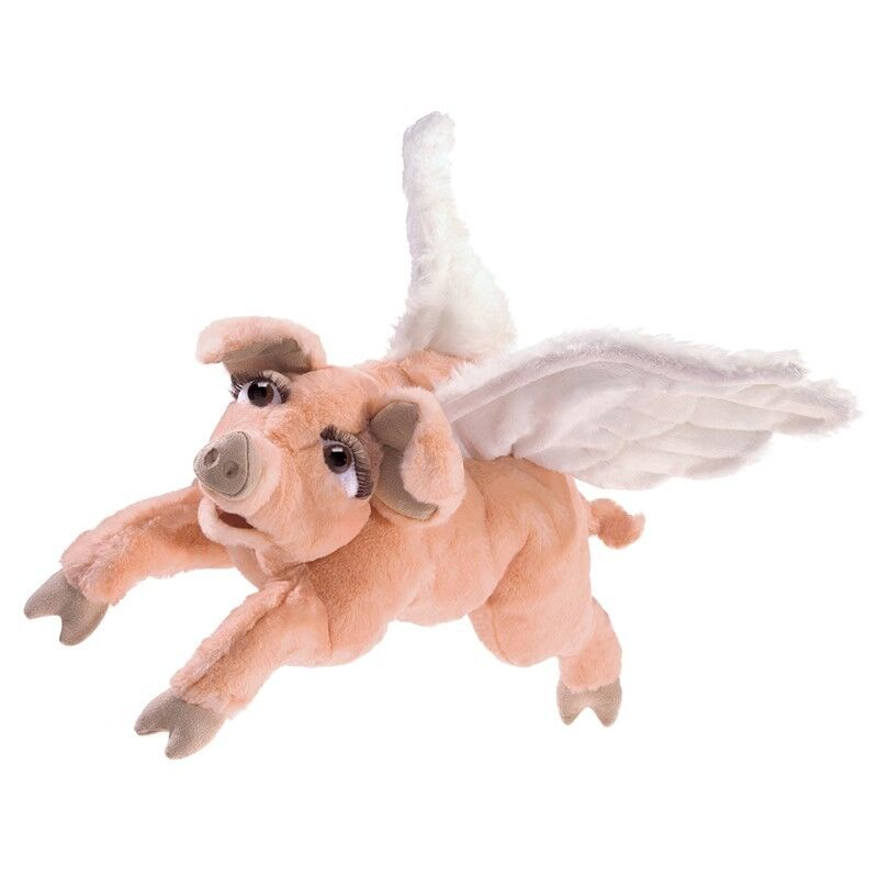 FLYING PIG PUPPET 3120  Free Shipping in USA  Folkmanis Puppets