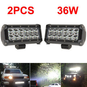 2x-6-034-7-034-INCH-LED-Work-LIGHT-BAR-SPOT-OFF-ROAD-4X4-BOAT-ATV-DRIVING-LAMP-TRUCK