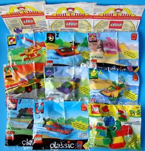 McDonald-039-s-Lego-Classic-All-8-MIP-Happy-Meal-Toys-1-MIP-U3-Duplo-3-Bags