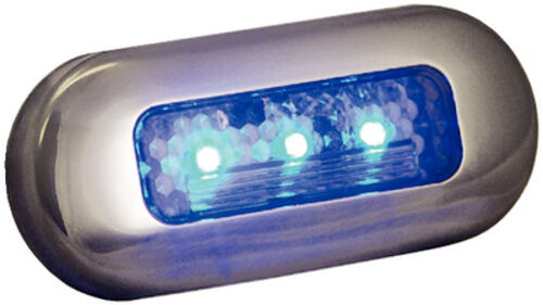 Accent and Utility Light for Boats Blue LED Color Surface Mount Courtesy