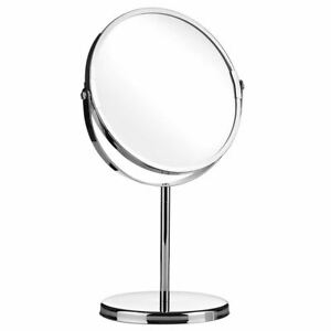 Makeup-Cosmetic-Chrome-Pedestal-Mirror-Bathroom-Vanity-2-Way-Zoom-Magnify