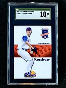 2008-Tristar-Projections-263-Clayton-Kershaw-Rookie-SGC-10-Gold-Label-Pop-1