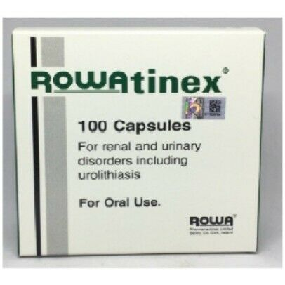 NEW Rowatinex 100 Capsules for Renal Urinary Disorder EXP 2022