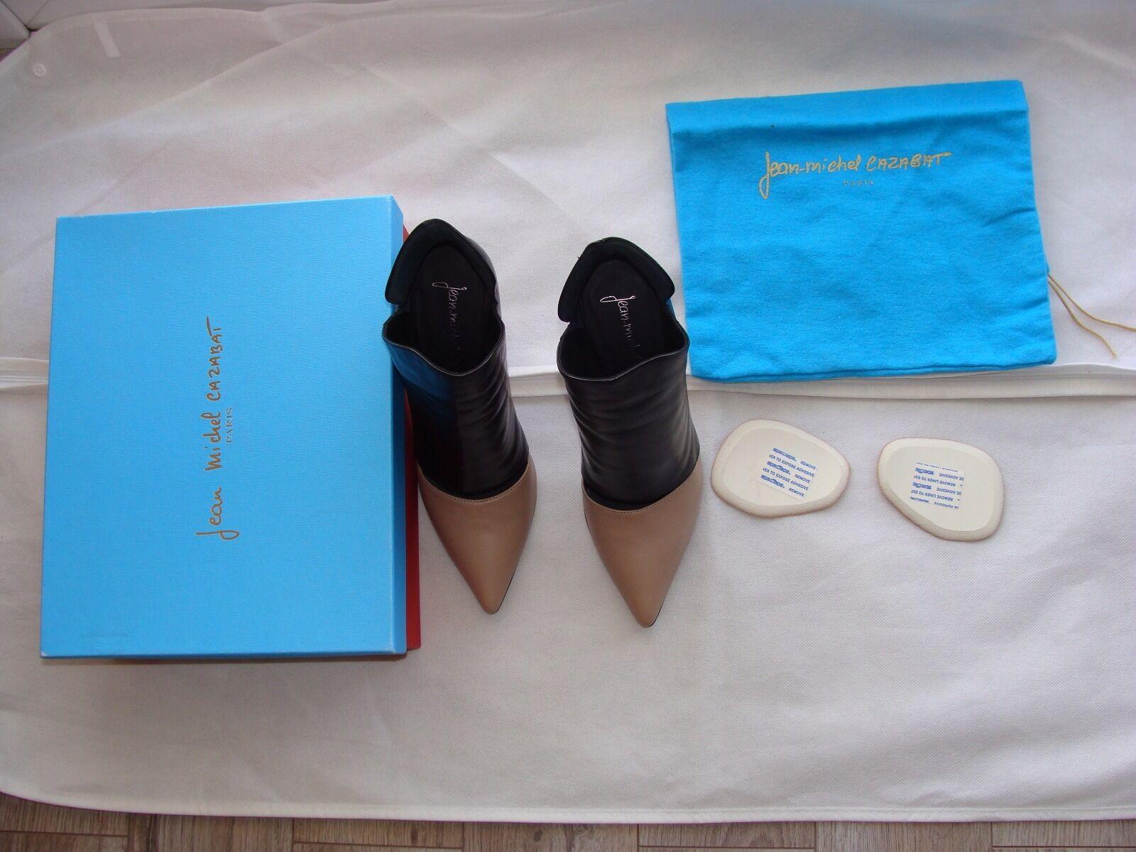 NEW  -JEAN MICHELL CAZABAT Due pelli in pelle avvioie High Heels Dimensione EU 37.5  US 7  2  a prezzi accessibili