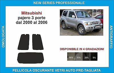 pellicole oscuranti vetri mitsubishi pajero 3p dal 2000-2006 kit posteriore