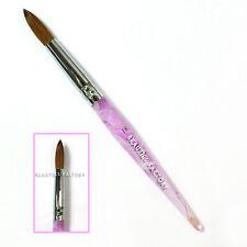 1x Sable Hair Nail Art Tips Painting Acrylic Brush Pen Wave Pattern No.20 #402J