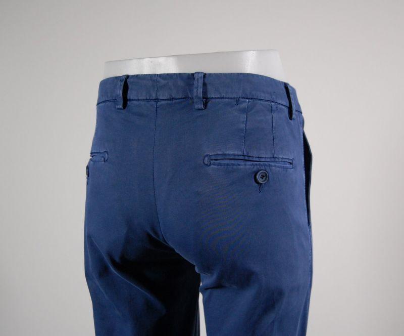 Pantalone slim slim slim fit B700 in cotone smerigliato lavato stretch Azzurro Estate 2018 4fc34e