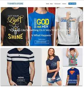 T-Shirt-Store-Website-Business-For-Sale-Earn-113-A-SALE-Free-Domain-Hosting