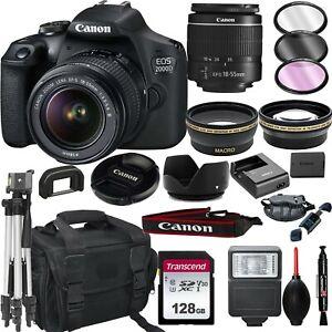 Canon-EOS-2000D-Rebel-T7-DSLR-Camera-EF-S-18-55mm-Lens-128GB-Bundle-More