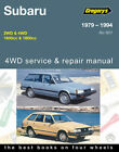 Subaru 1600/1800 from 1979-1994 Workshop Repair Manual with MPN GAP05501