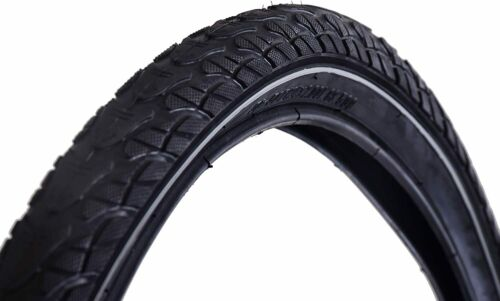 "Ridge Trax 24/"" x 2.00/"" Junior Kids Bike Replacement Tyre City Slick Fast Black"