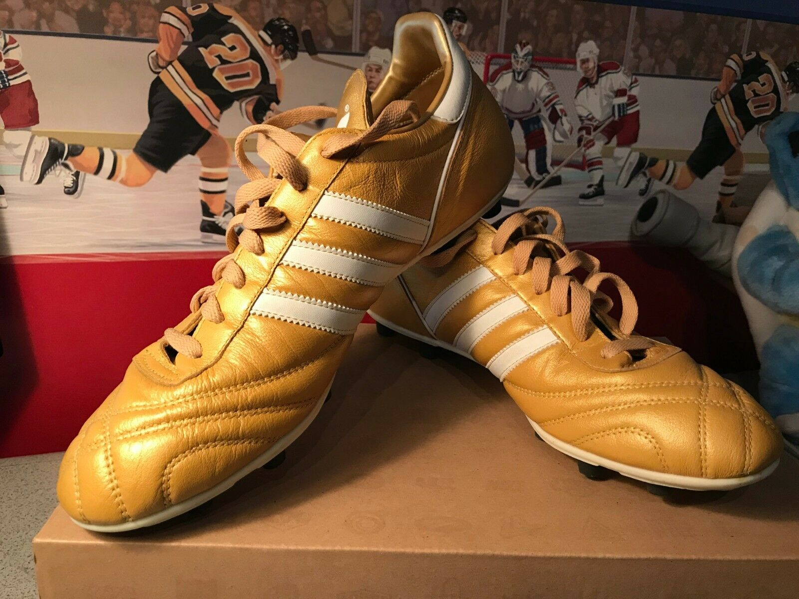 New Gold Adidas Profi Soccer Cleats