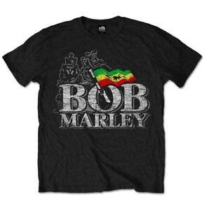 Bob Marley T-shirt Distressed Logo Official Merchandise Zwudx6ki-07171951-676140750