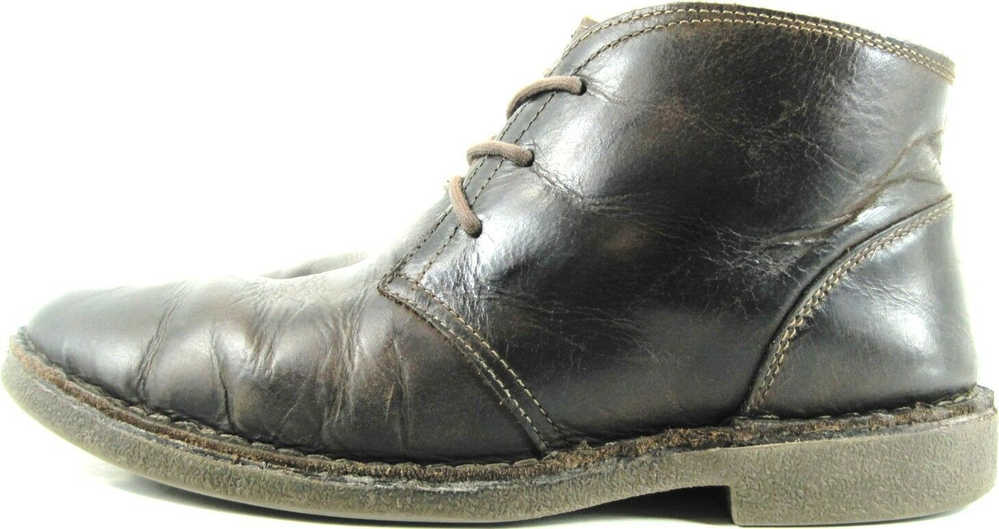 Dockers Uomo Desert Stivali Size 10.5 M Brown Lace-Up Pelle Slip Resistant