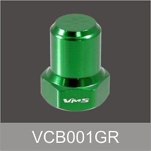 VMS RACING BILLET ALUMINUM GREEN B16 B18 VTEC VALVE COVER NUTS BOLTS HEAD 8 PCS