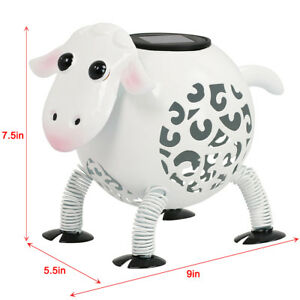 Outdoor-Metal-Solar-Sheep-Light-LED-Landscape-Path-Stake-Post-Lamp-Yard-Decor