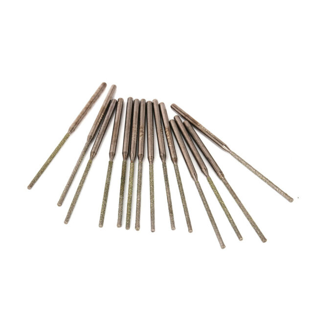 20Pcs 7mm TAPER Diamond Coated Rotary Head Mounted Points Grinding Bit Shank 3mm