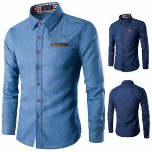 Men-039-s-floral-casual-t-shirt-tops-luxury-slim-fit-stylish-dress-shirt-formal