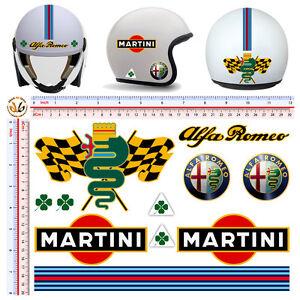 adesivi casco alfa romeo martini sticker helmet tuning decal motorcycle 11 pz 7426799853277 ebay. Black Bedroom Furniture Sets. Home Design Ideas