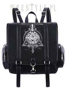 Restyle-Occult-Gothic-Cat-Skull-Moon-Punk-Psychobilly-Emo-School-Bag-Backpack