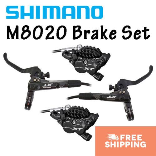 Shimano XT BL-M8000//BR-M8020 4 Piston Disc Brake Set Front /& Rear Pre-bled MTB