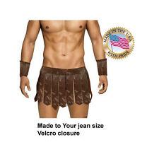 Gladiator Spartan costume 3pc  Warrior Greek Roman   Made to Jean size