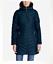 NEW Eddie Bauer Womens 18x Sun Valley Down Parka Coat Jacket Black//Dk Plum//Cocoa