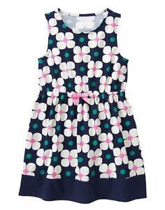 NWT Girl/'s Gymboree Hop n/' Roll sleeveless flower dress ~ 4 5 FREE SHIPPING!