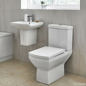 Image Is Loading WC Suite Cloakroom Bathroom Toilet And Basin Sink