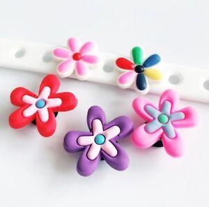 07dcaedbefdcb Details about 10PCs Colorful Flower Shoe Charms Fit Kid's Hole Shoes Cross  Bracelet Shoe Lace