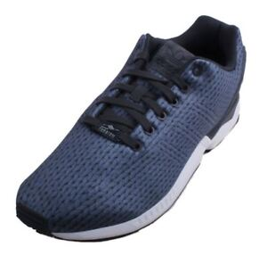 33f2bc74031cd ADIDAS ZX FLUX TRAINERS NEW MEN S SIZE 10.5 CARBON WHITE ...
