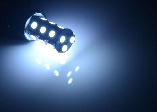 2 x Xenon White 3157 DRL 18 SMD Daytime Running LED Light bulbs 4114 4157NA 3157