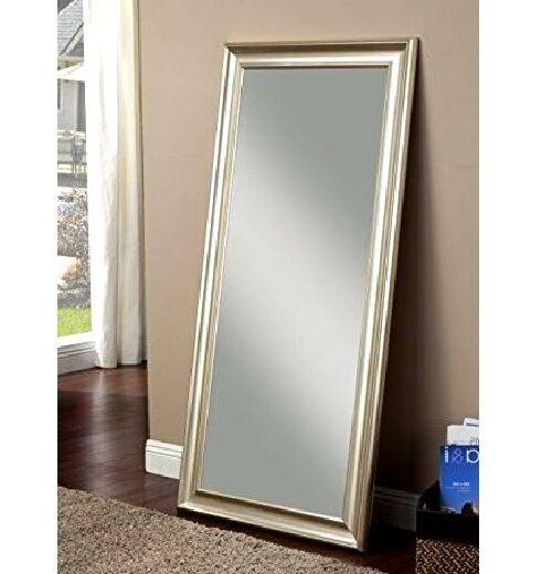 Floor Mirror Leaning Silver Full Length Leaner Wall Mount Bedroom