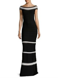 22e3cde4e147 Image is loading NWT-HERVE-LEGER-BRAIDED-INSET-BANDAGE-GOWN-DRESS