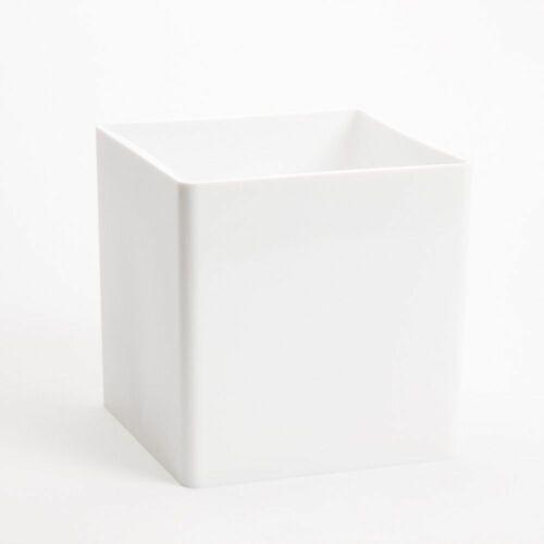Acrylique Blanc Cube Durable Vase 15 cm Léger Designer Conteneur 4126