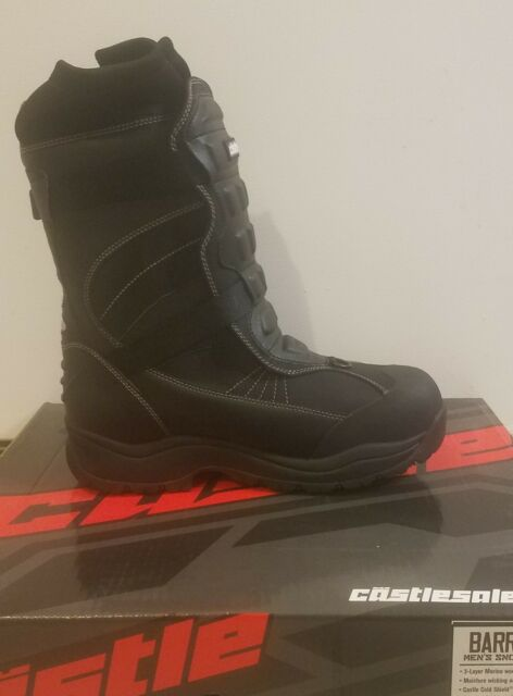 7 Castle X Barrier 2 Mens Snowmobile Boot Gray