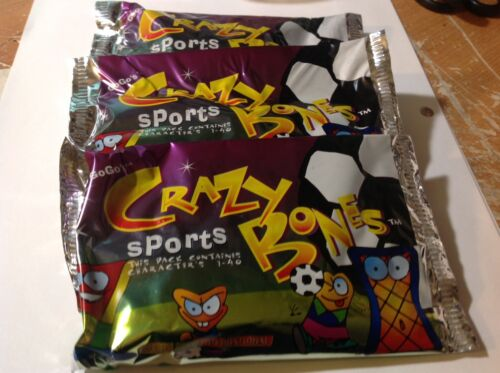 characters 1-40 Set of 3 Crazy Bones SPORTS Go Go/'s Item #00150 NIP