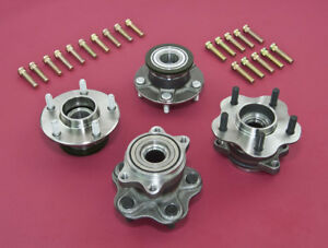 Details about Front & Rear Non-ABS 5-Lug Conversion Hub W/ Extended Studs  For 240SX 95-98 S14