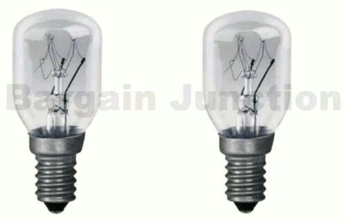 Universal PYGMY Twin Pack 15W Fridge Freezer Appliance Light Bulb SES E14 Lamp