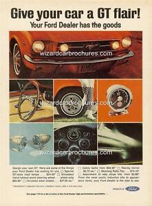 1966 FORD MUSTANG ACCESSORIES A3 POSTER AD SALES BROCHURE ADVERTISEMENT ADVERT