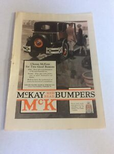 1926 MAGAZINE AD #A3-099 - McKay Read Bead Bumpers