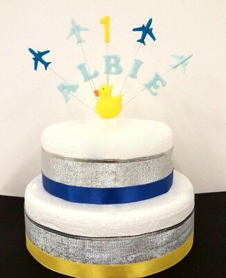 Admirable Duck And Plane Birthday Cake Topper Decoration Personalised Funny Birthday Cards Online Unhofree Goldxyz