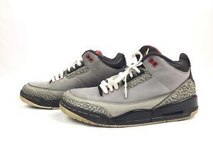 12d1c62b0b318b Air Jordan 3 III Retro Stealth Graphite Black Red Shoes 136064-003 ...
